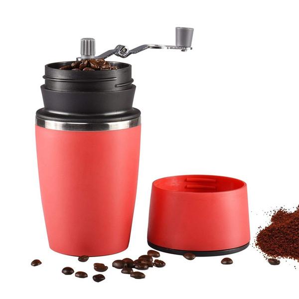 Portable Coffee Grinder manuale, regolabile sola tazza caffè Coffee Grinder Mug Cup con Built-in Grind e filtro a rete