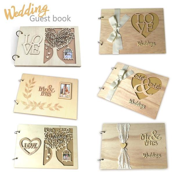 Mesaj Kitap MR MRS Aşk Rustik Düğün Süslemeleri Not Defteri Ağaçlık Yaratıcı Albüm Evlenmek Sanat ve El Sanatları 16jma p1