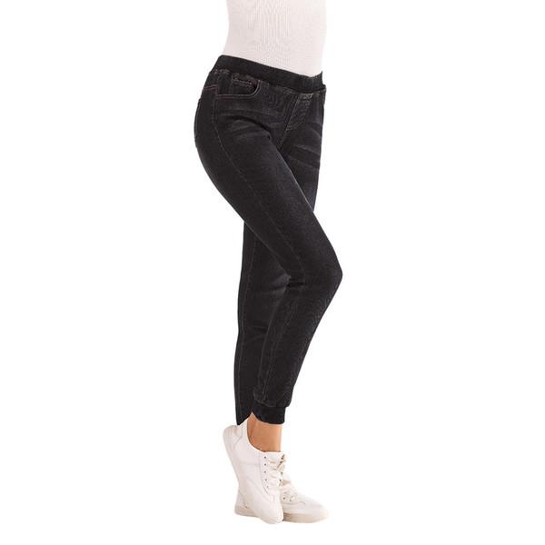 2019 2018 ladies bravo wonderful autumn elastic plus loose denim casual cropped jeans
