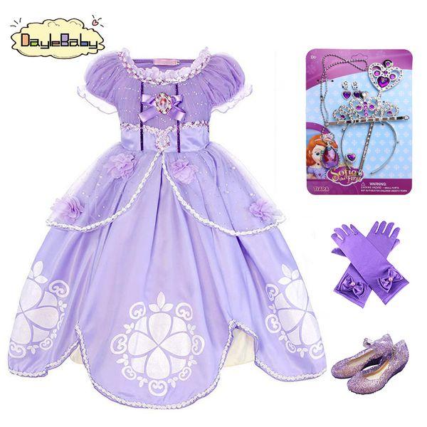 8676167c062e5 2019 DAYLEBABY Girls Sofia Princess Dress Kids Sophia Sleeping Beauty Party  Dresses Child Girl Rapunzel Aurora Prom Purple Costume From Jerry011, ...