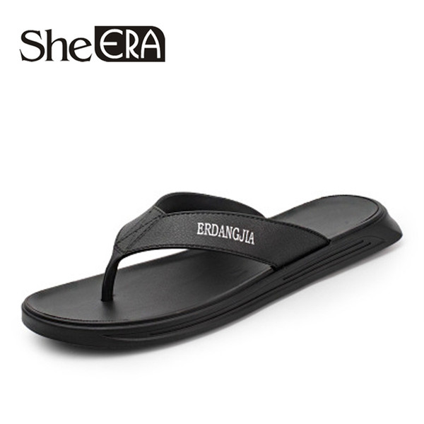She ERA 2019 New Arrival  Men's Casual Sandals Classic Beach Male's Slippers With Metal Decoration Large Size 38-45 Shoes
