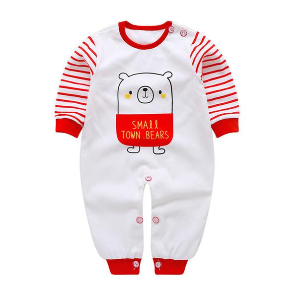 Boa qulaity bebê meninos meninas macacão roupas recém-nascidos primavera outono infantil algodão dos desenhos animados macacão pijama para criança desgaste roupas