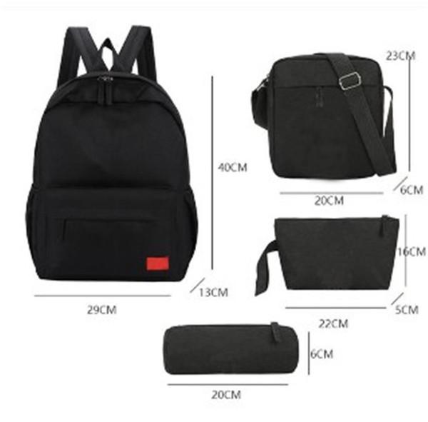 4-шт Взрывы backapck бренд мешки плеча битнику мешок способа вскользь студент сумка сумки путешествия рюкзак 2020