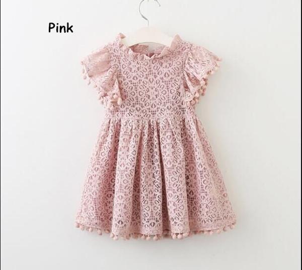 Robes de princesse pour fille robe en creux avec dentelle mouche mouche robe bébé 3 couleurs pour vous choisir l'approvisionnement en usine
