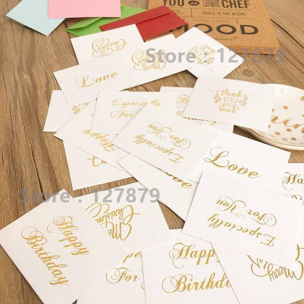 25pcs 6x8cm police de bénédiction Golden Police carte postale Set / Amour joyeux anniversaire joyeux Noël bonne année carte de voeux assorties
