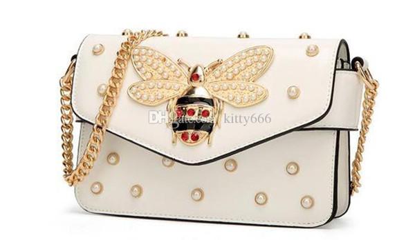 Kitty666 Sacs Bee Gratuit Du Acheter Vintage Femmes Pu Femme Main À Pendentif Dhl Sac De16 86 Designer Flap Cartables Dame Gem BoedCxr