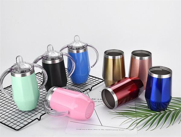 Tazze di latte isolate sottovuoto del bambino Tazze di siero a forma di diamante Tazze auto bar di bevande in acciaio inossidabile 8 colori