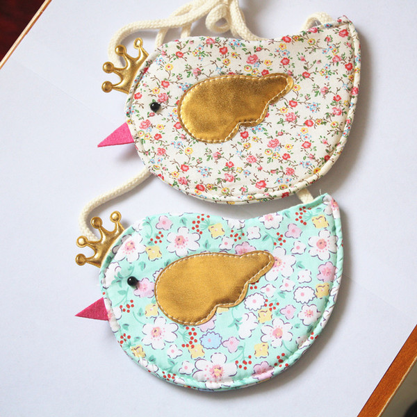 NEW Baby Birds Design sacos de 5 cores 10 pçs / lote O novo saco das crianças mudar bolsa O saco do pássaro saco da moeda Meninas Moda Bolsa