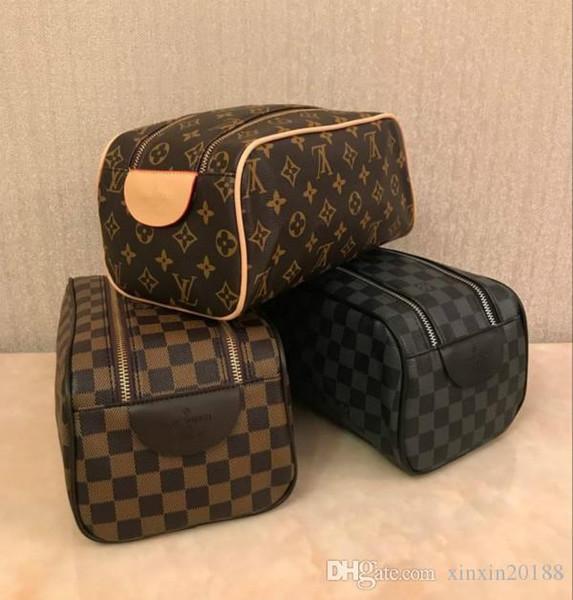 les hommes de qualité haut de gamme de la mode des femmes qui voyagent sac de toilette Trousse de toilette de grande capacité sacs cosmétiques sac de toilette maquillage poche 3Color