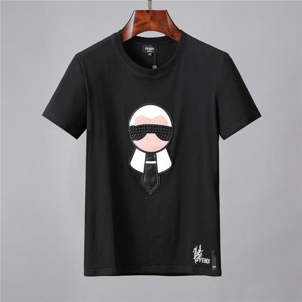 2019 La stampa di alta qualità nel mondo dell'abbigliamento europeo ed americano è perfetta, con la t-shirt da uomo della marca Medusa Asian taglia sulla testa