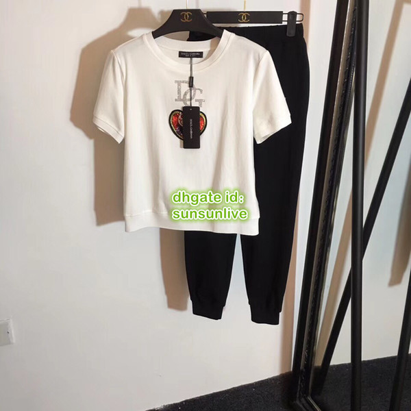 f3cfebeff57b3 Femmes Pig Broderie Avec Des Paillettes Strass Tops T-shirt De Haute  Qualité Tee +