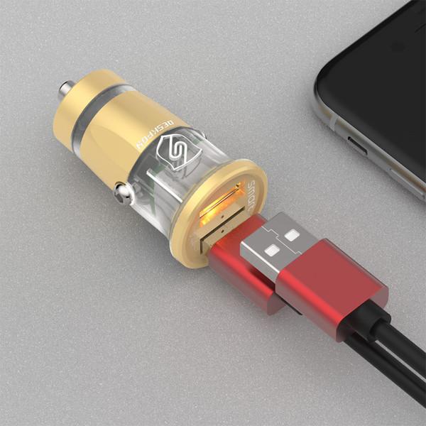 Nuevo adaptador multifuncional con doble puerto USB mini cargador de teléfono para automóvil 5V 3.4A de potencia uno para dos USB cargador de automóvil