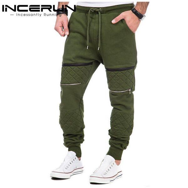 Incerun S-3xl Men Thick Sweatpants Winter Warm Joggers Fleece Lined Baggy Long Sweat Pants Casual Hip Hop Trousers Gyms-clothing Q1904017