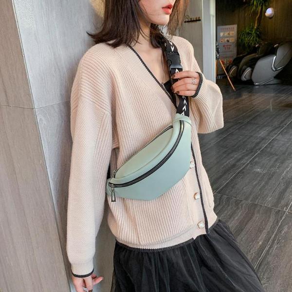 Raffreddare il sacchetto della cinghia del torace in pelle Marsupio per le donne borse moda Hip Hop Marsupio Telefono denaro Marsupio Donne Bolsas Solid Feminina