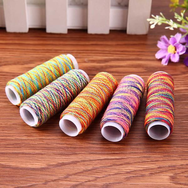 5 pcs Rainbow Color Sewing Mão Quilting Costura Bordado Início DIY Costura De Fios de Tricô Acessórios
