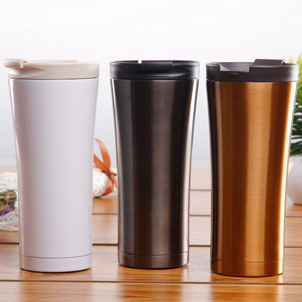 Bottiglia di caffè dell'acciaio inossidabile 500ML 3 tazze di vuoto della doppia parete di colori portatile tazza portatile dell'automobile di viaggio degli strumenti di Home Office 20 pezzi DHL