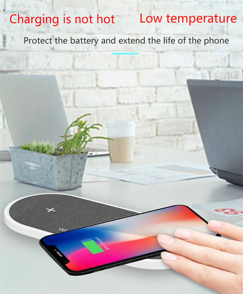 2 in 1 for Apple Watch wireless charger charging pad iPhone X 8 and Samsung Galaxy series, buy 20 pieces of DHL free shipping