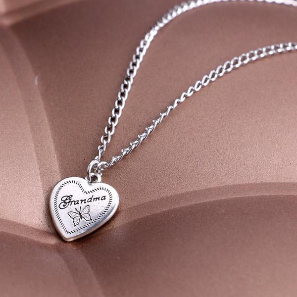 Бабушка скороговорка в форме сердца кулон ожерелье член семьи лучший бабушка ювелирные изделия для женщин подарок детям A2431