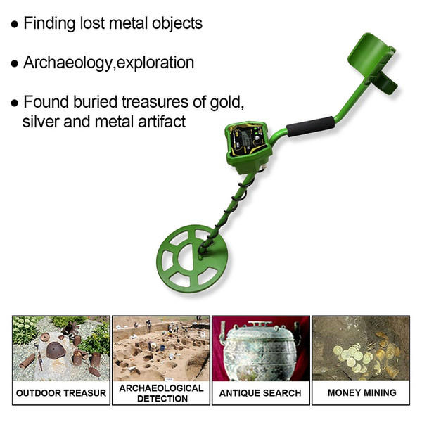 High Performance Search Metal Detector Underground Pinpointer Long Range Gold Treasure Hunter Digger Detect Seek Find Gold Coin TS166A