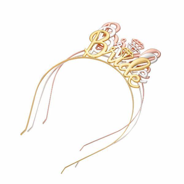 Rose Gold Bride Bridesmaid Tiara Crown Headband Bachelorette Hen Party Bride To Be Wedding Bridal Shower Girls Night Gift