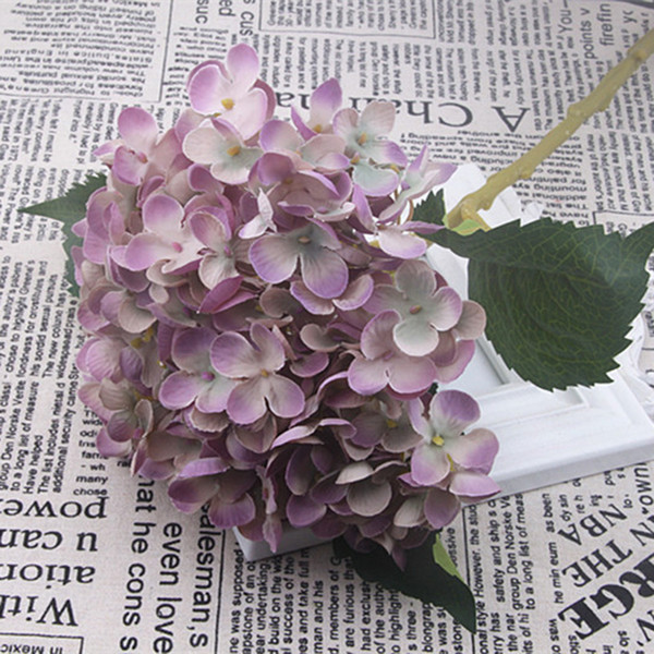 2020 Simulation Fake Hydrangea Heads Silk Flower Buds Party