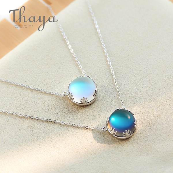 Wholesale aurora for sale – best ine Jewelry Necklaces Thaya cm Aurora Pendant Necklace Halo Crystal Gemstone s925 Silver Scale Light Necklace for Women Elegant Jewelry