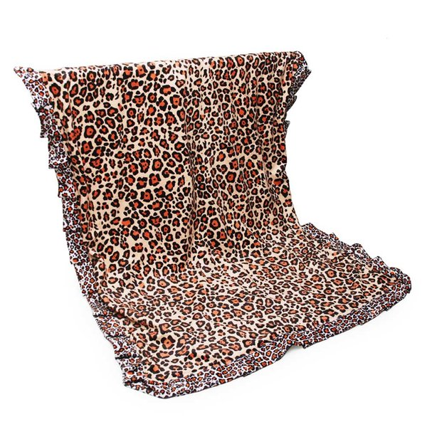 Sunflower Ruffle Baby Blanket Wholesale Blanks Leopard Flannel Beach Blanket Wrap Stripes Yoga Mat in 5 Colors DOM1310