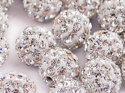 Can Mix Color!Best 10mm Micro Pave Disco Ball Bead Crystal crystal Bead women men lot jewelry DIY Beads For Bracelet Necklace t633 x82
