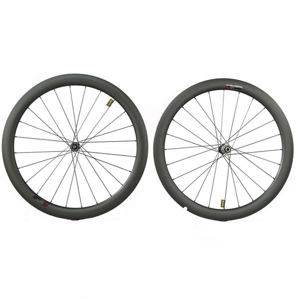Rennradräder aus Carbon Scheibenbremsenräder mit Novatec D411 / D412-Naben DT-Naben breite 25mm 27mm-Carbonfelgen