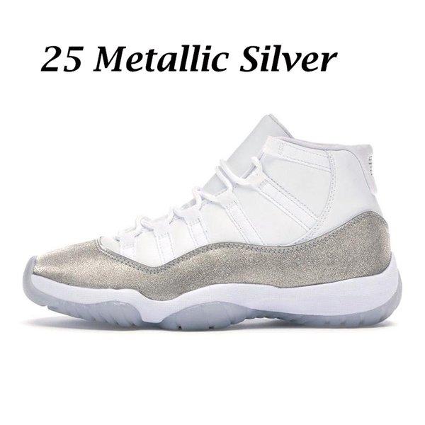 25 Metallic Silver