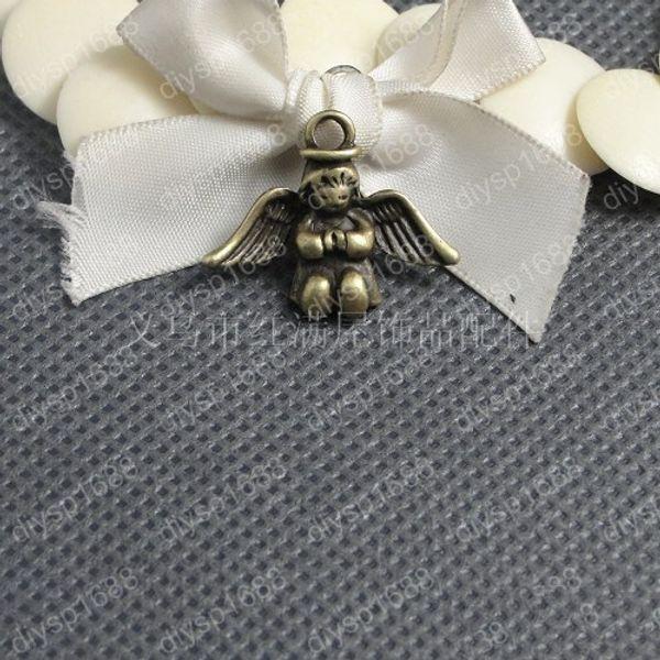 60pcs 26*21MM Antique bronze tibetan angel fairy charms vintage metal alloy pendants diy necklace bracelet earring jewelry making material