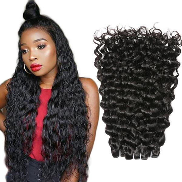 Water Wave Brazilian Hair Weave Bundles Water Curly Brazilian Hair Weft 10 26 Inch Long Brazilian Water Wave Virgin Human Hair Extensions Best Curly