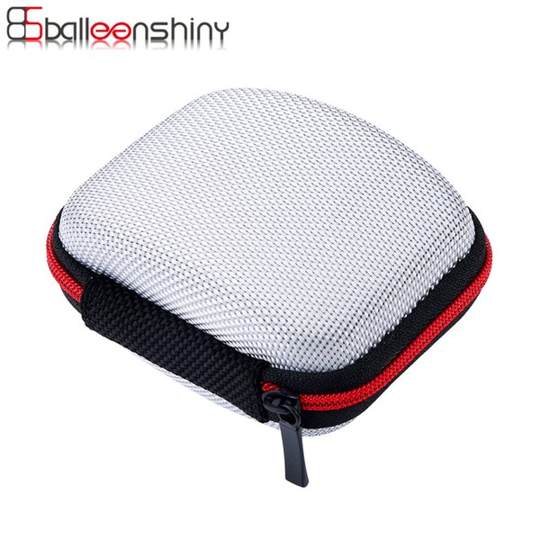 Fiber Zipper Storage Bag Case For Earphone EVA Headphone Case Container Cable Earbuds Box Carrying Pouch Bag Organizer