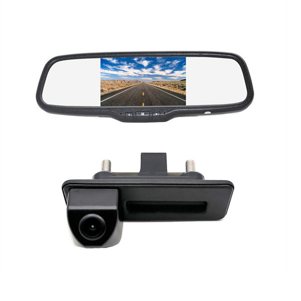 Rear View Backup Car Camera Mirror Monitor Kit for Audi A1/A4L/Q3/Q5/S5/A8L/A6L/Skoda /VW Passat Sagitar Lavida Touareg