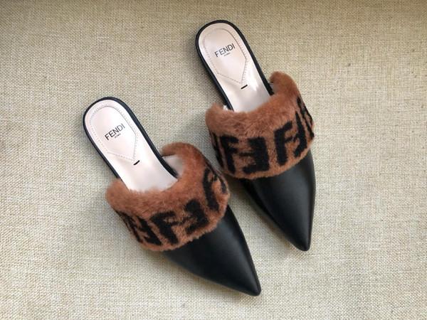 2019Coolsa New Summer Women Fox Fur Slippers Fluffy Really Fur Fox Hair Slides Flat Plush Shoes Home Flip Flops Ladies Beach Sandals