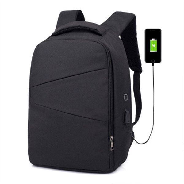Unisex multi-function anti-theft backpack with USB interface, waterproof outdoor backpack for 15.6-inch laptop, school backpack,black
