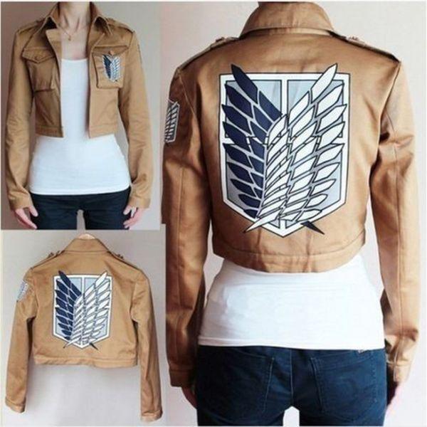 Attack on Titan jacket Shingeki no Kyojin Legion Cosplay Costume Embroidery Jacket Coat Cloak Leather Apron
