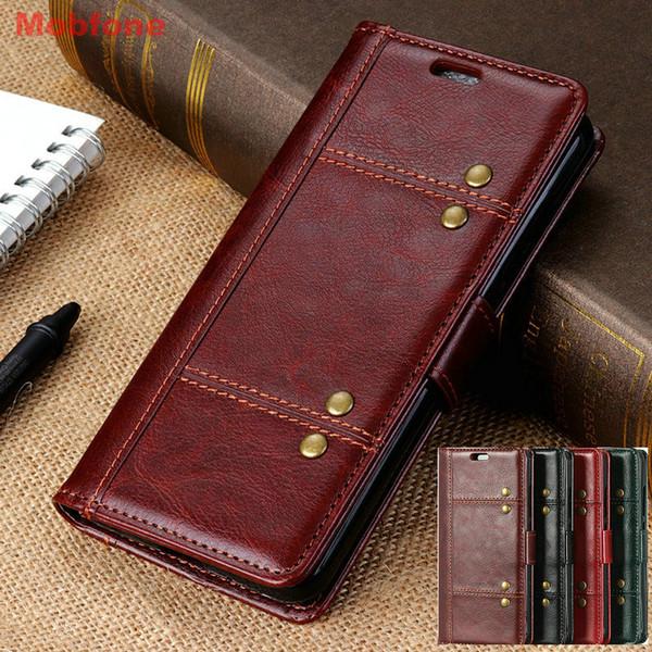 1b31bdc9d2a113 Huawei Honor 8X Vintage Wallet Funda Book Honor 8 X Fashion Luxury PU Leather  Case Flip