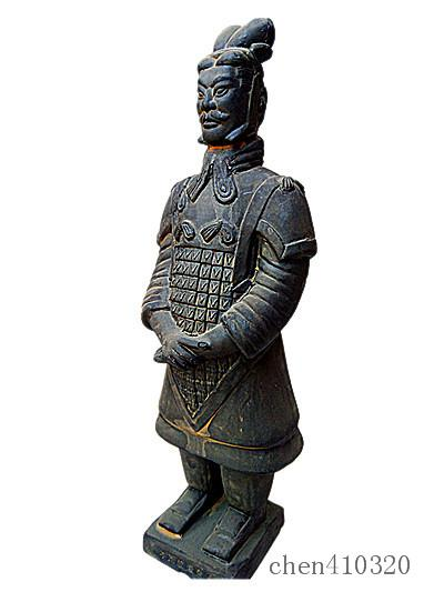 Terracotta Warriors General Statue 60cm height Designer replica Ancient Qin Shihuang warrior soldier eighth wonder world Great Xi'an history