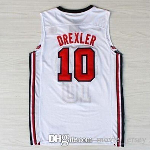8acf8bce9 Houston Basketball Jerseys 34 Olajuwon Rockets 22 Clyde Hakeem Drexler  10  Jersey 13 Harden 1992 USA Dream Team James Red Navy Blue White