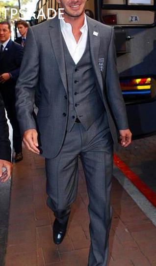 TPSAADE Traje de novio de 3 piezas Esmoquin por encargo para hombres Novio Novio Boda El mejor traje de hombre (chaqueta + pantalón + chaleco + corbata)