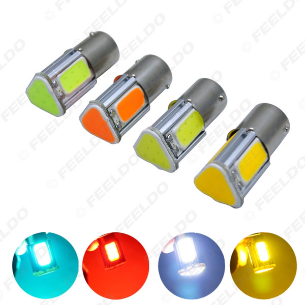 10x Araba 1156 BA15S 4-Side COB 42SMD Oto 42Led Dönüş Lambası Sinyal LED Işık LED Ampul 7-Color # 5318