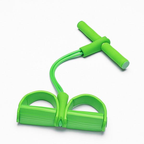 Chaud 2/4 Bandes de résistance Tube Cordes Fitness Pilates Exercice de musculation Intérieur Femmes / Hommes / Enfant Body Building Puller