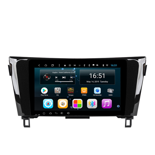 Android car radio with precise GPS navigation free map excellent bluetooth microphone lossless music auto stereo for Nissan X-trail Qashqai