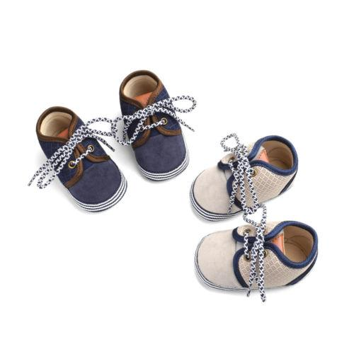 2018 Herbst-Frühlings-neugeborenes Baby beiläufige Segeltuch-Krippe Schuhe Prewalker weiche Sohle-Turnschuhe