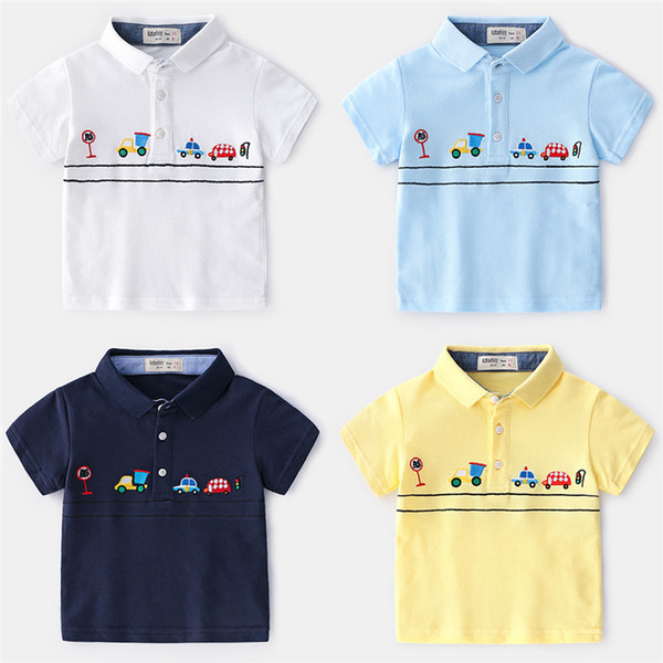 e9e0ec7c70a boutique children clothing 2019 new brand kids boys polo t shirts children  tops tees pure cotton top quality cars embroidery size90-130 5pcs