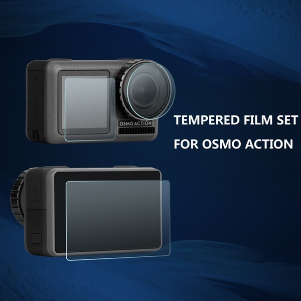 DJI OSMO Sports Camera HD Protective Film OSMO ACTION Tempered Glass Film Accessories Lens + Front Screen + Rear Screen