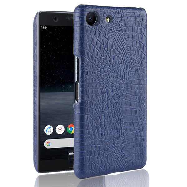 For Sony Xperia ACE SO-02L Case Luxury Retro Crocodile PU Leather Hard Back Cover For Sony Xperia Ace 5.0inch Phone Fitted Cases