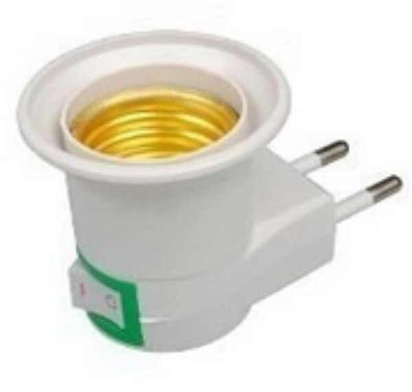2019 100 Original Lamp Holder Plug Adapter With Switch E27 Light Bulb Wall Socket European Plug Socket From Barry3csupermarket 0 55 Dhgate Com