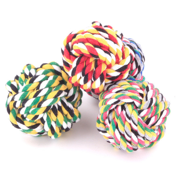 top popular Pet Supply Dog Toys Dogs Chew Teeth Clean Outdoor Training Fun Playing Rope Ball Toy yq01036 2021